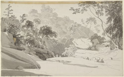 Scene near Srivilliputtur. c. 20 July 1792 (at Alagarkoil, a temple in the hills 7 miles west of Srivilliputtur)